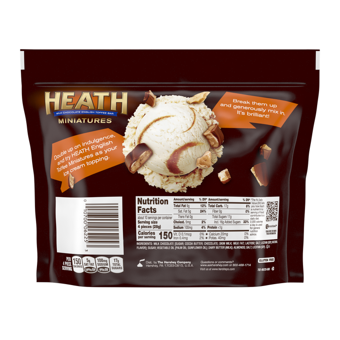Image of HEATH Toffee Bar Miniatures Packaging