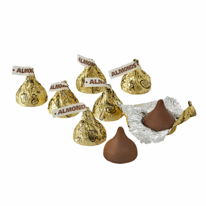 Image of KISSES Milk Chocolates with Almonds [11 oz. bag] Packaging