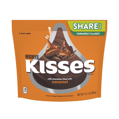 KISSES Milk Chocolates Filled with Caramel