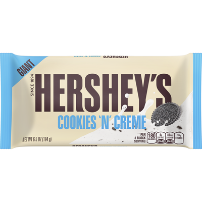 HERSHEY'S COOKIES 'N' CREME Giant (6.5 oz.) Bar