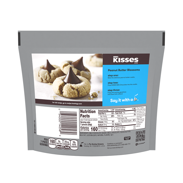 Image of KISSES Milk Chocolates, 10.8 oz. bag Packaging