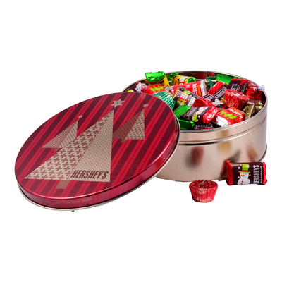 Holiday HERSHEY'S Chocolate Tin, 2 lbs. , 2 lbs. tin