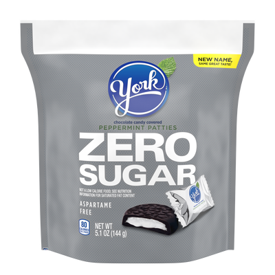 YORK Zero Sugar Dark Chocolate Candy Peppermint Patties, 5.1 oz bag