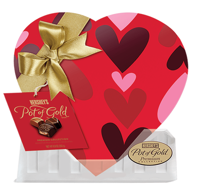 HERSHEY'S POT OF GOLD Premium Assorted Chocolates, Red Heart Box