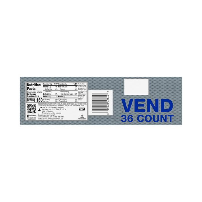 Image of YORK Peppermint Patties Standard Bar [36-Pack (36 x 1.4 oz. bar)] Packaging
