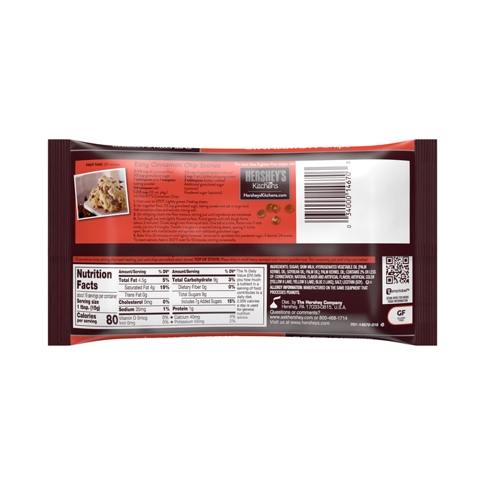 Image of HERSHEY'S Cinnamon Baking Chips - 10 oz. Packaging
