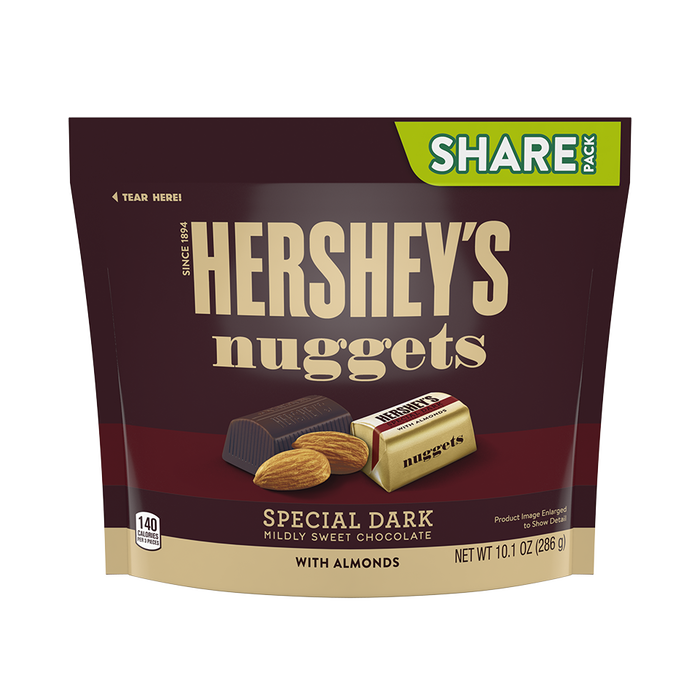 Image of HERSHEY'S NUGGETS SPECIAL DARK Chocolate with Almonds Packaging
