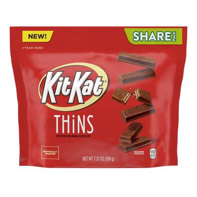 KIT KAT® THiNS Milk Chocolate Candy Bars, 7.37 oz bag