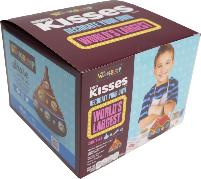 Image of KISSES Decorate Your Own World's Largest Packaging