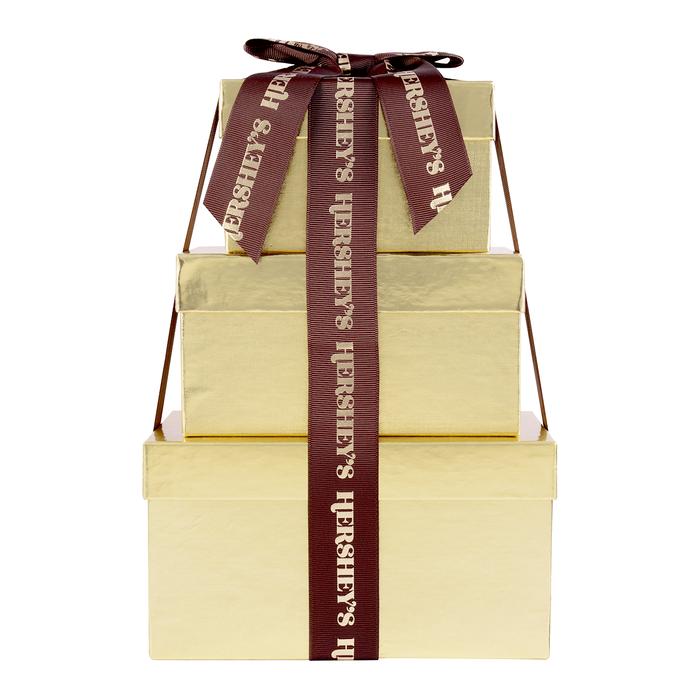 Image of HERSHEY'S Three-Box Chocolate Gift Tower Packaging