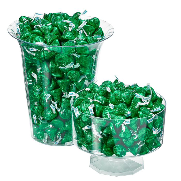 Image of KISSES Milk Chocolates in Dark Green Foils - 4.16 lbs. [4.16 lb. bag] Packaging