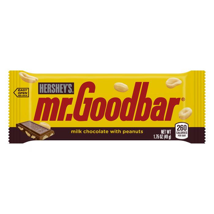 Image of MR. GOODBAR Standard Bar [36-Pack (36 x 1.75 oz. bar)] Packaging