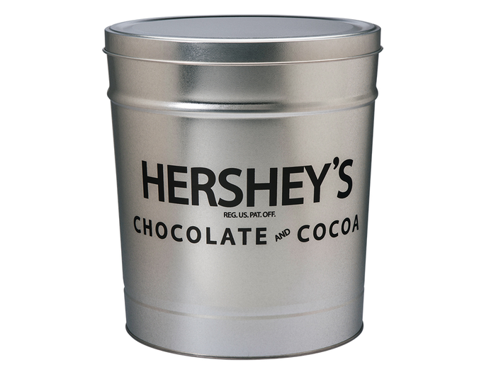 Image of HERSHEY'S Filled Silver Tin - 15 lbs. Packaging