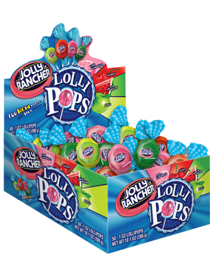 JOLLY RANCHER Assorted Lollipops - 50 ct.