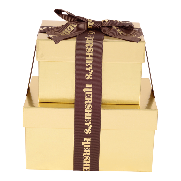 Image of HERSHEY'S Two-Box Chocolate Gift Tower Packaging