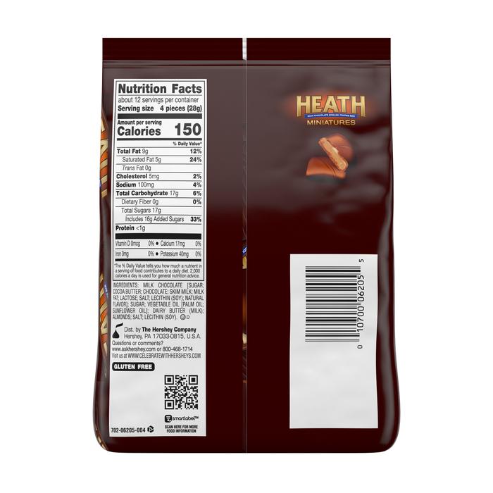 Image of HEATH Toffee Bar Miniatures [12 oz. bag] Packaging