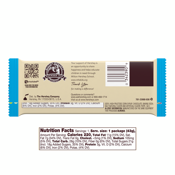Image of HERSHEY'S COOKIES 'N' CREME Standard Bar (36 ct.) Packaging