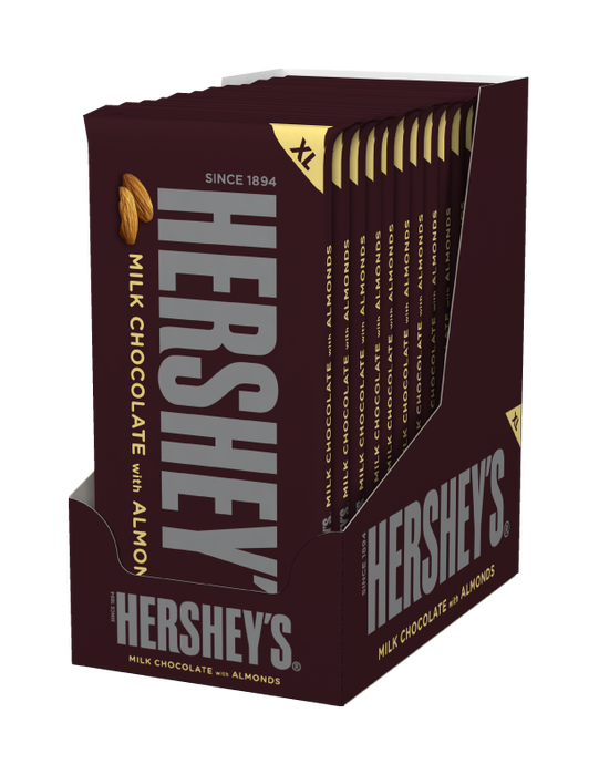 Image of HERSHEY'S Milk Chocolate with Almonds Extra Large (4.25 oz.) Bar Packaging
