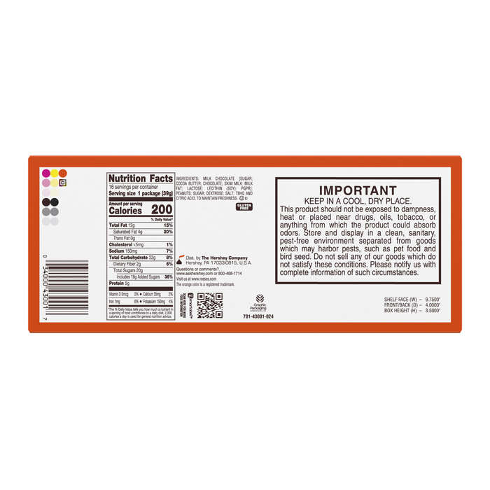 Image of REESE'S Big Cup Peanut Butter Cup Standard Bar Packaging