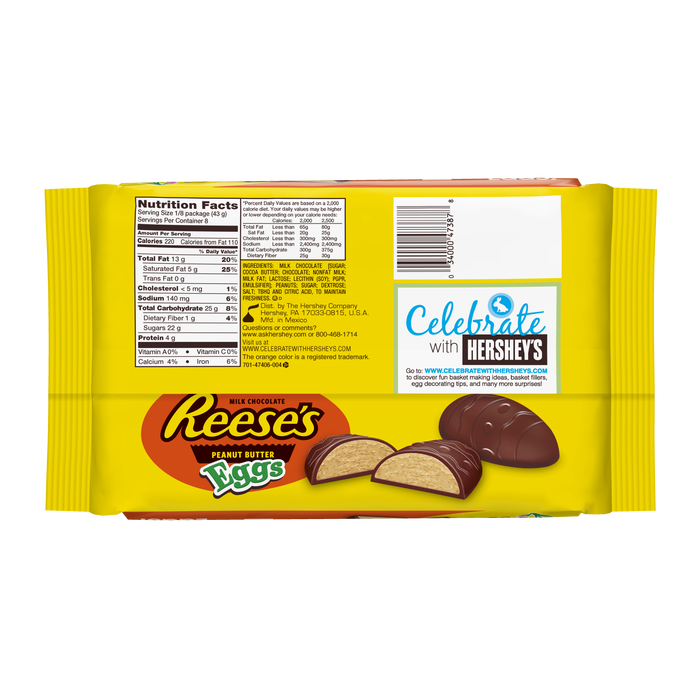 Image of Giant REESE'S Peanut Butter Eggs, 12 oz. Packaging