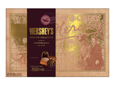 HERSHEY'S Premium Travel Collection Chocolate Gift Box [1 gift box]