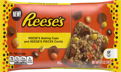 REESE'S Baking Cups and REESE'S PIECES Candy, 8.5 oz. Bag