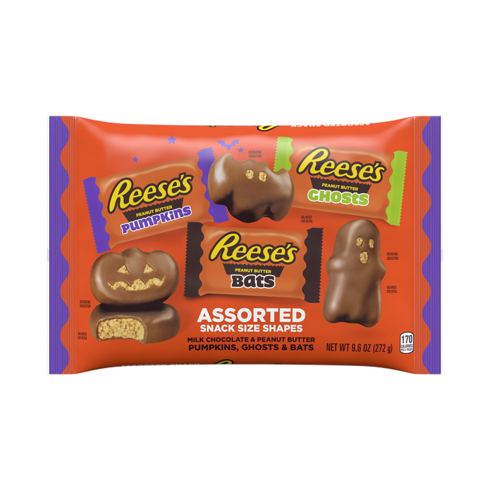 Image of REESE'S Halloween Milk Chocolate Peanut Butter Shapes Assortment Packaging