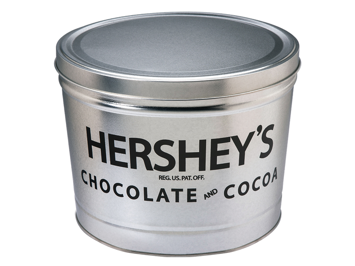 Image of HERSHEY'S Filled Silver Tin - 10 lbs. Packaging