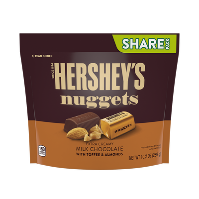 HERSHEY'S NUGGETS Milk Chocolate with Toffee and Almonds