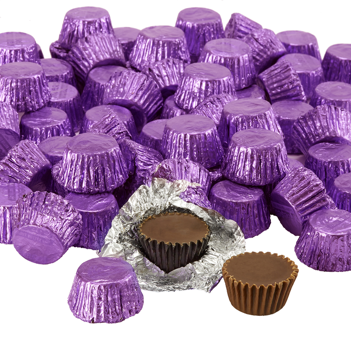 Image of REESE'S Peanut Butter Cups Miniatures in Purple Foils - 66.7 oz. Bag [66.7 oz. bag] Packaging