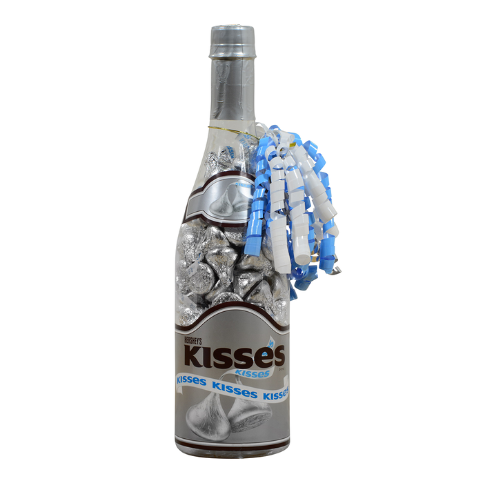 Image of Celebration Bottle Filled with HERSHEY KISSES Milk Chocolates Packaging