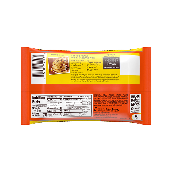Image of REESE'S Mini Pieces Baking Chips, 10 oz. Bag Packaging