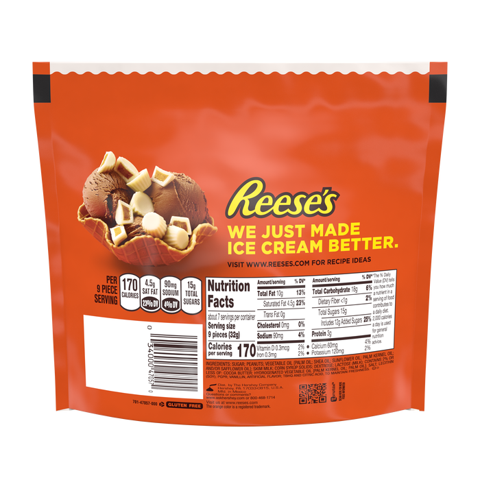 Image of REESE'S White Peanut Butter Cups Miniatures, 10.5 oz. bag Packaging
