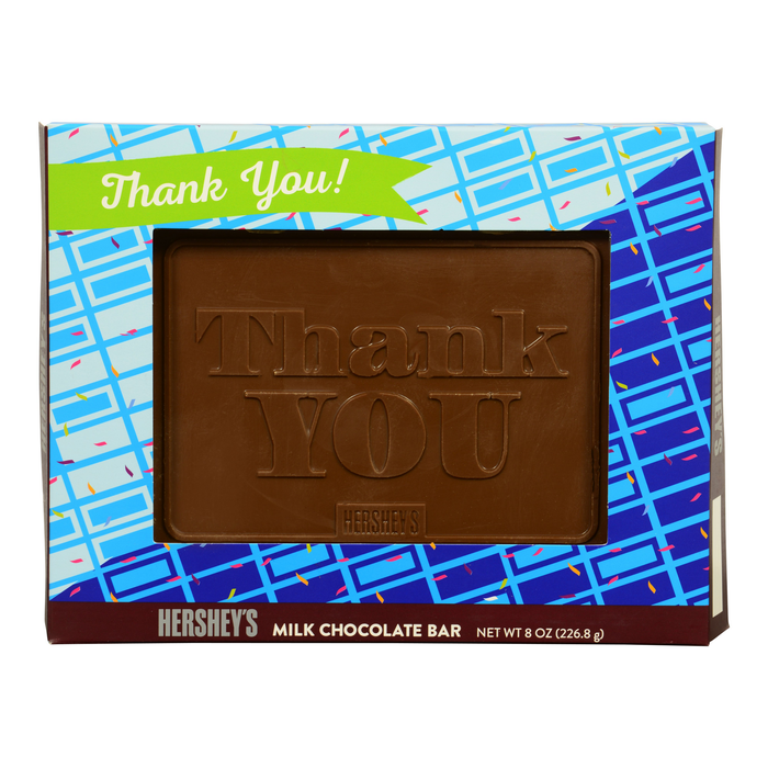 "Image of HERSHEY'S ""Thank You"" Chocolate Bar - 8 oz. [8 oz. bar] Packaging"