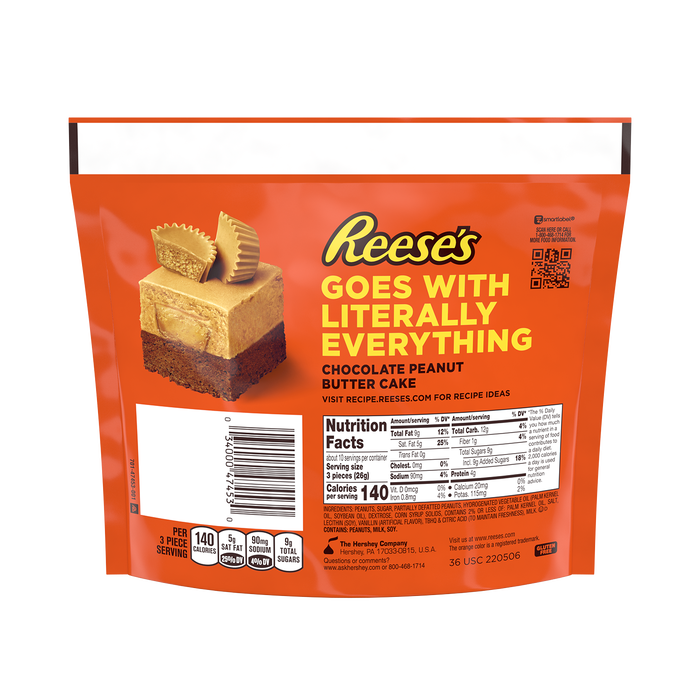 Image of REESE'S Miniatures Ultimate Peanut Butter Lovers Peanut Butter Cups, 9.3 oz bag Packaging