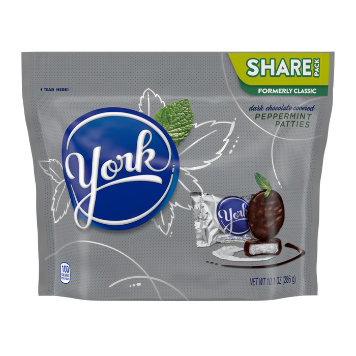 Image of YORK Peppermint Patties Miniatures, 10.1 oz. bag Packaging