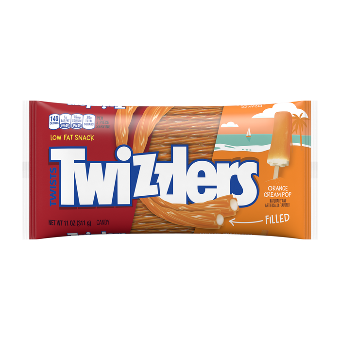 Image of TWIZZLERS Orange Cream Pop Packaging