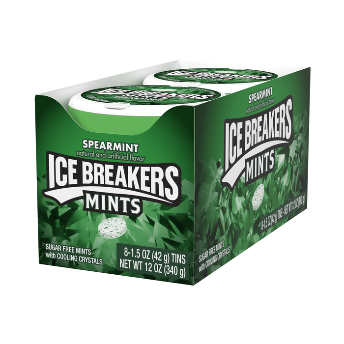 Image of ICE BREAKERS Mints in Spearmint Packaging