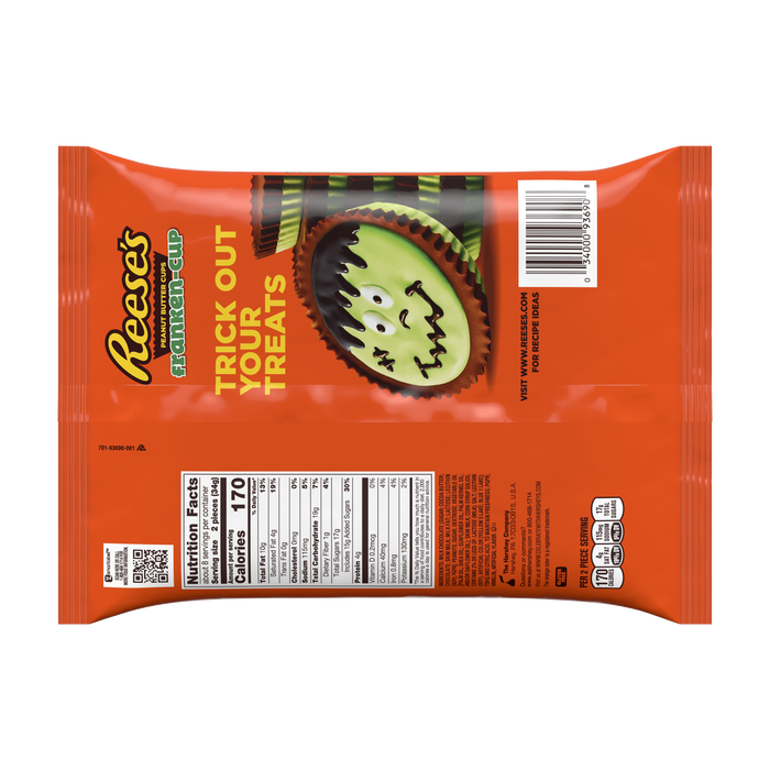 Image of REESE'S FRANKEN-CUP Peanut Butter Cups Packaging