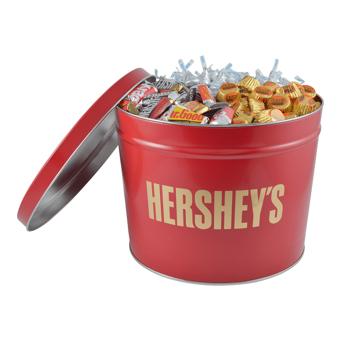 Image of HERSHEY'S Holiday Candy Gift Tin - 11 lbs. [11 lbs. tin] Packaging