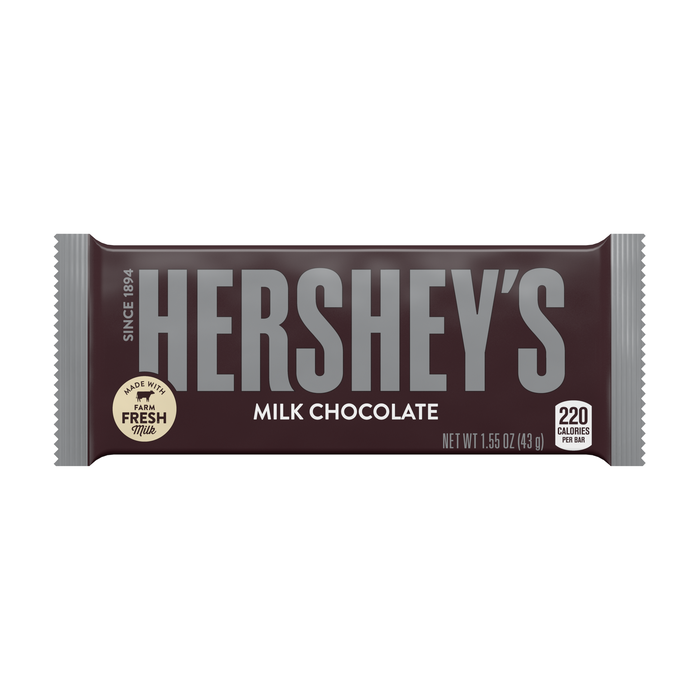 Image of HERSHEY'S Milk Chocolate Standard Bar (36 ct.) [12-Pack (12 x 1.55 oz. bar)] Packaging