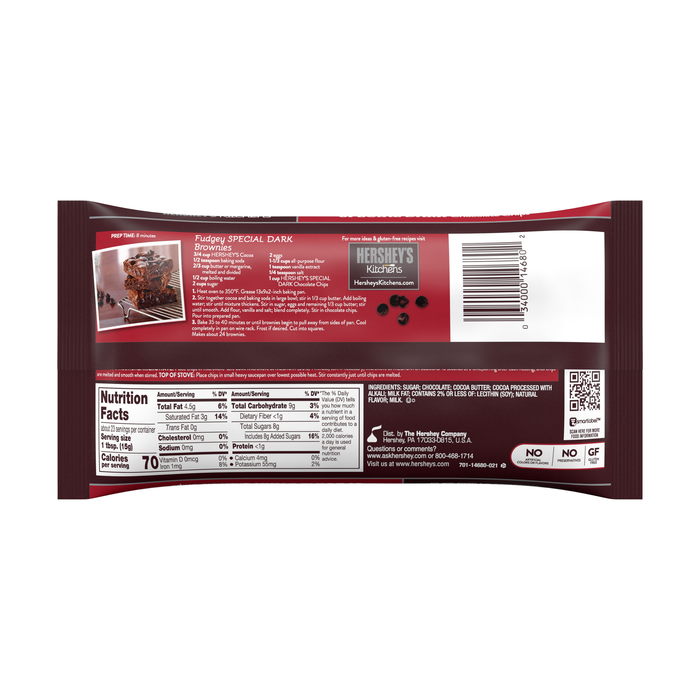 Image of HERSHEY'S Special Dark Chocolate Chips - 12 oz. Packaging