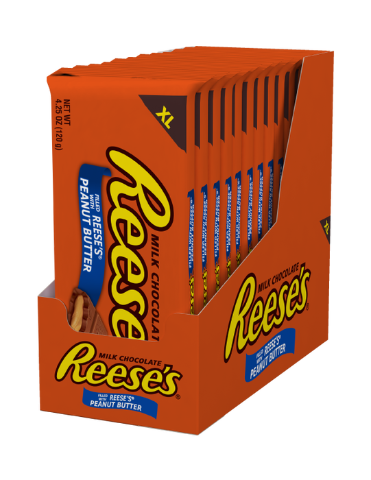 Image of REESE'S Peanut Butter Extra Large (4.25 oz.) Bar Packaging