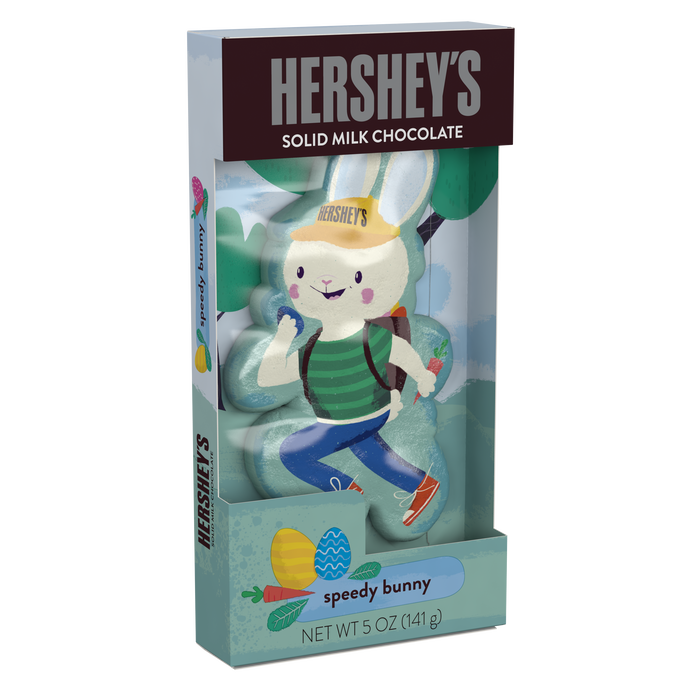 Image of HERSHEY'S SPEEDY BUNNY Milk Chocolate Bunny, 5 oz. [1 pack] Packaging