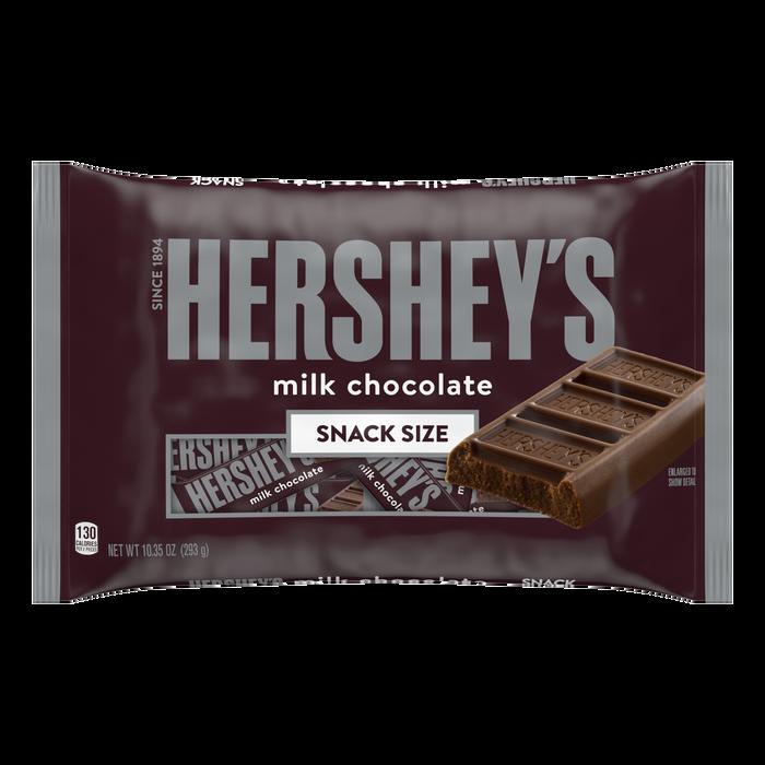 Image of HERSHEY'S Milk Chocolate Snack Size - 10.35 oz. [10.35 oz. bag] Packaging