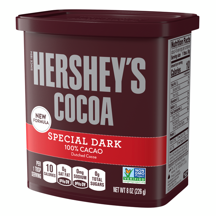 Image of HERSHEY'S Special Dark Cocoa - 8 oz. Packaging