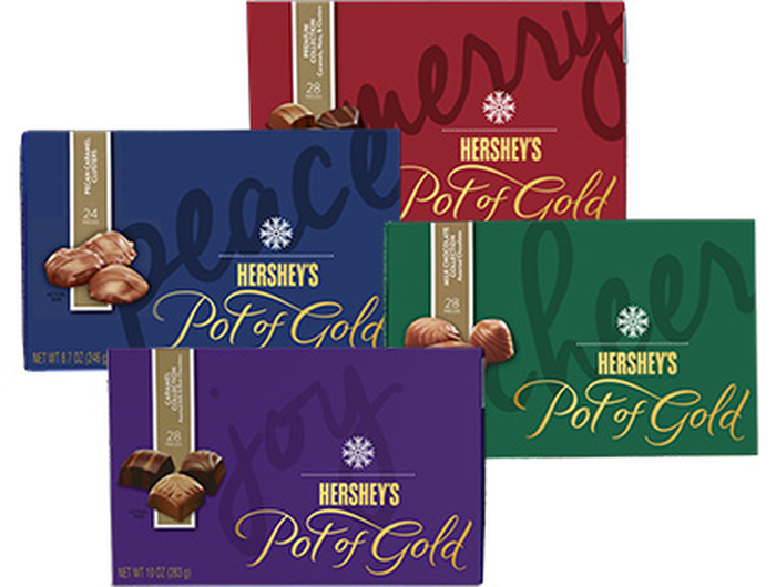 Image of HERSHEY'S POT OF GOLD Chocolates Variety Collection [4-item variety pack] Packaging