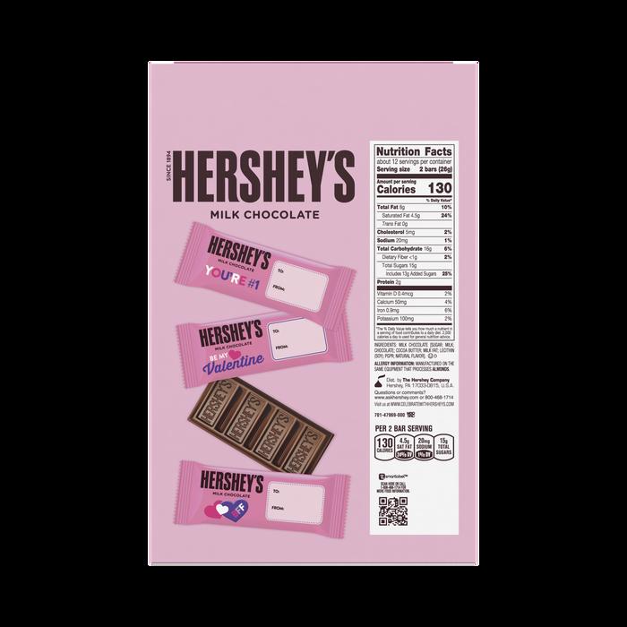 Image of HERSHEY'S Milk Chocolate Valentine's Exchange Snack Size Box, 11.25 oz. Packaging