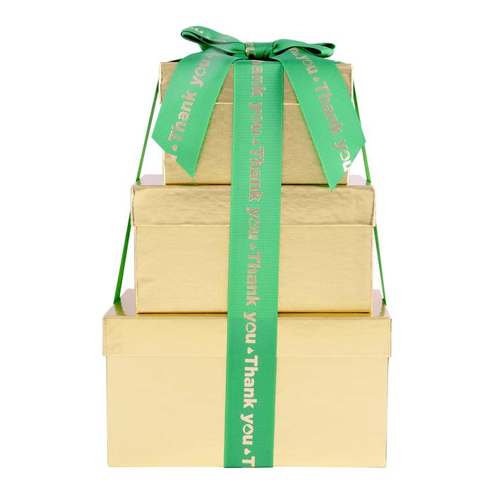 Image of HERSHEY'S Three-Box Chocolate Thanks Gift Tower Packaging