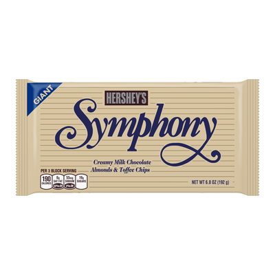 SYMPHONY Milk Chocolate with Almonds & Toffee Chips Giant (6.8 oz.) Bar